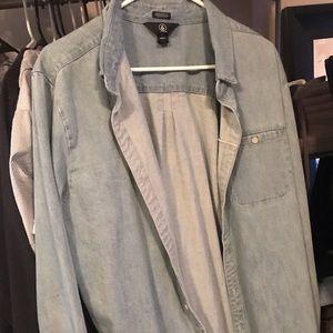 Men's jean jacket size large